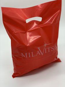 Пакет с логотипом с вырубной усиленной ручкой «банан» и донной складкой - Фото №2