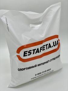 Пакет с логотипом с вырубной усиленной ручкой «банан» и донной складкой - Фото №21