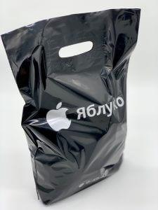 Пакет с логотипом с вырубной усиленной ручкой «банан» и донной складкой - Фото №4
