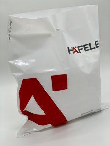 Пакет с логотипом с вырубной усиленной ручкой «банан» и донной складкой - Фото №45