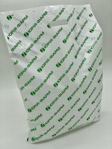 Пакет с логотипом с вырубной усиленной ручкой «банан» и донной складкой - Фото №40