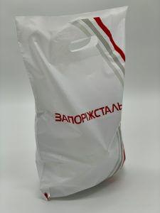 Пакет с логотипом с вырубной усиленной ручкой «банан» и донной складкой - Фото №11
