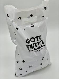 Пакет с логотипом с вырубной усиленной ручкой «банан» и донной складкой - Фото №14