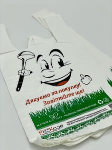Пакет майка с логотипом - Фото №1
