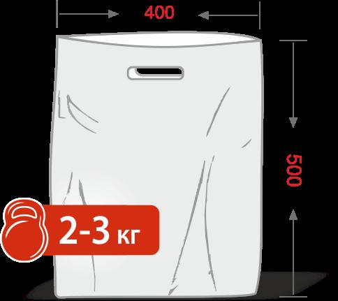 Пакеты с логотипом типа «банан» 400*500, 50 мкм, HDPE -Chernigov Package - Фото ПНД 40х50