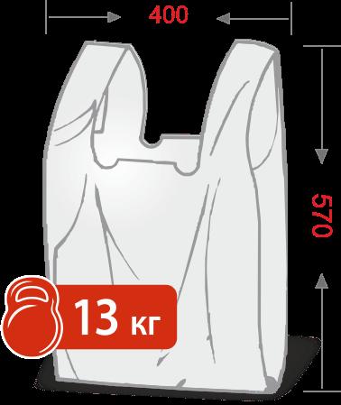 Пакеты с логотипом типа «майка» 400*570, 25 мкм, HDPE -Chernigov Package - Фото ПНД 40х57