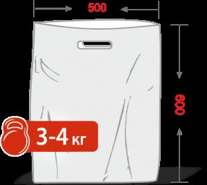 Пакеты с логотипом типа «банан» 500*600, 60 мкм, HDPE -Chernigov Package - Фото ПНД 50х60