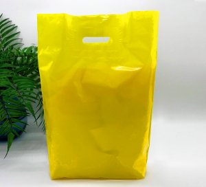 Patch handle bag 400*500 mm, without printing, LDPE A6, YELLOW -Chernigov Package - Фото IMG_6471_1