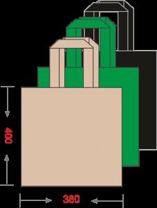 Эко-сумка из спанбонда без печати 380*400, 80 г/м -Chernigov Package - Фото Сумка 40х38