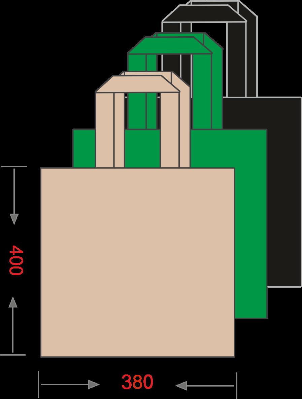 Эко-сумка из спанбонда без печати 380*400, 80 г/м -Chernigov Package - Photo Сумка 40х38