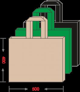 Эко-сумка из спанбонда без печати 500*400, 80 г/м -Chernigov Package - Фото Сумка 40х50
