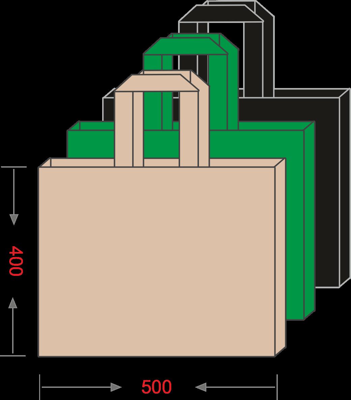 Эко-сумка из спанбонда с логотипом 500*400, 80 г/м -Chernigov Package - Photo Сумка 40х50