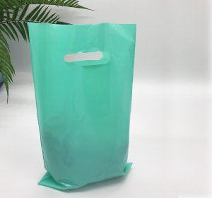 Die cut handle bag 200*300 mm, without printing, LDPE A6, TIFFANY -Chernigov Package - Фото 20х30_тиффани