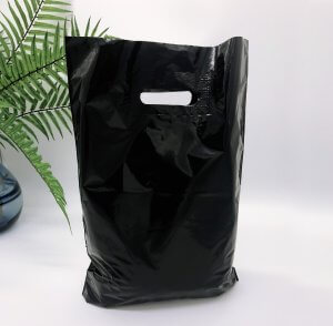 Patch handle bag 300*400 mm, without printing, LDPE A6, BLACK -Chernigov Package - Фото 30х40_черный