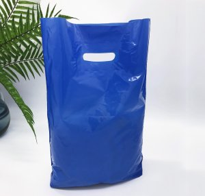 Patch handle bag 300*400 mm, without printing, LDPE A6, BLUE -Chernigov Package - Фото 30х40_синий
