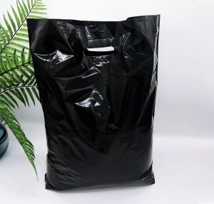 Patch handle bag 400*500 mm, without printing, LDPE A6, BLACK -Chernigov Package - Фото 40х50_черный