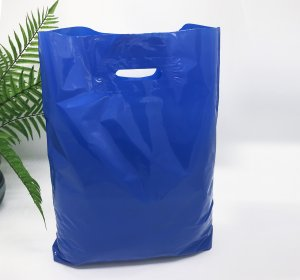 Patch handle bag 400*500 mm, without printing, LDPE A6, BLUE -Chernigov Package - Фото 40х50_синий kопировать