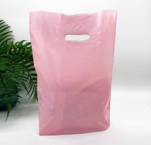 Patch handle bag 300*400 mm, without printing, LDPE A6, PINK -Chernigov Package - Фото IMG_6451