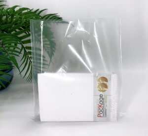 Die cut handle bag 300*400 mm, without printing, LDPE A6, TRANSPARENT -Chernigov Package - Фото IMG_6457