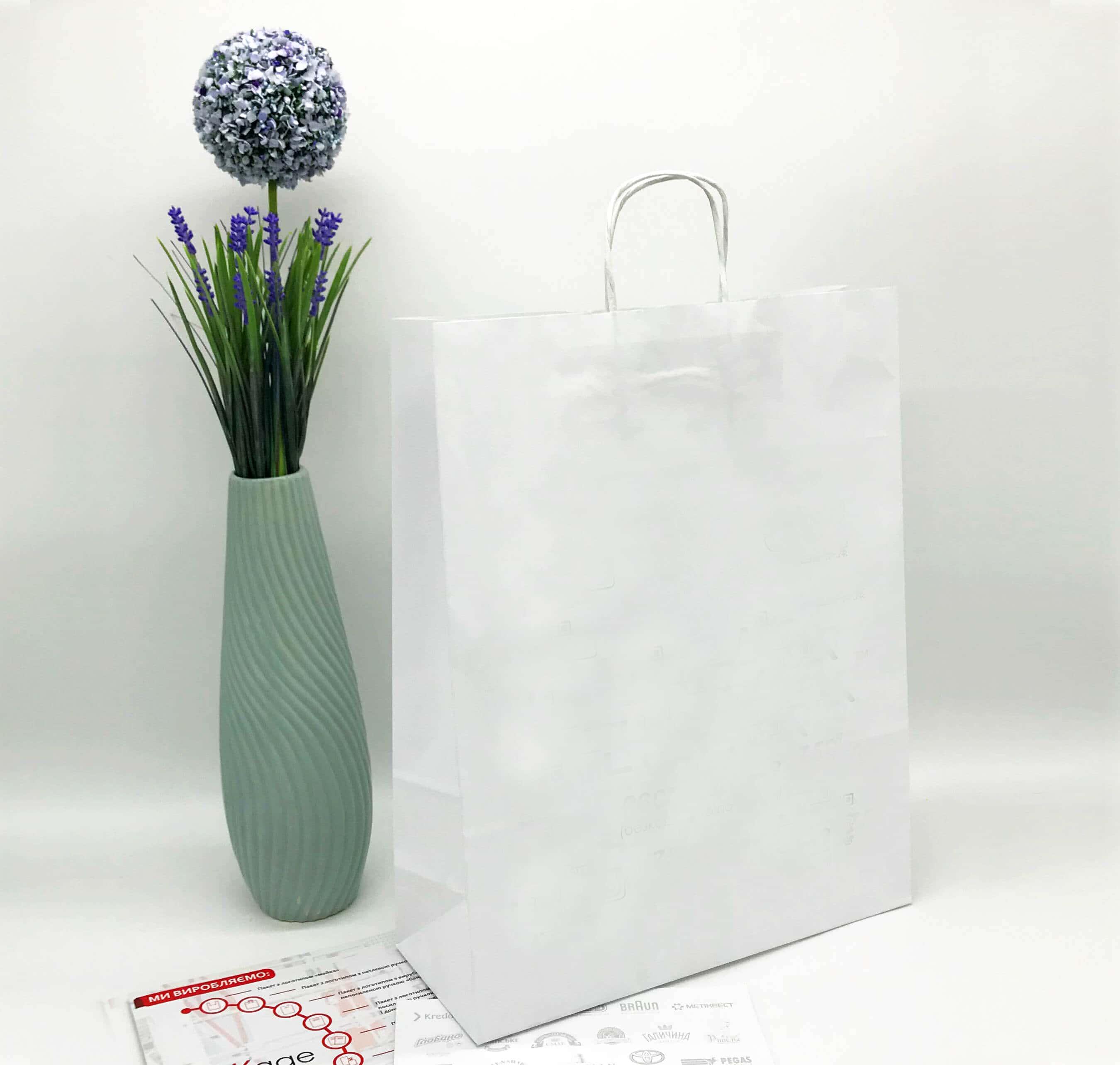 Белый крафт пакет без печати 320*400, 90 г/см -Chernigov Package - Фото Белый сред_бп