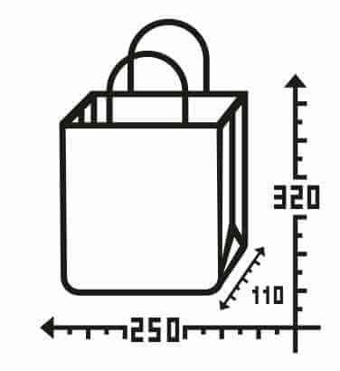 Бурый крафт пакет с логотипом 250*320, 90 г/см -Chernigov Package - Фото Бумажный_25х32