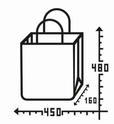 Бурый крафт пакет с логотипом 450*480, 90 г/см -Chernigov Package - Фото Бумажный_45х48