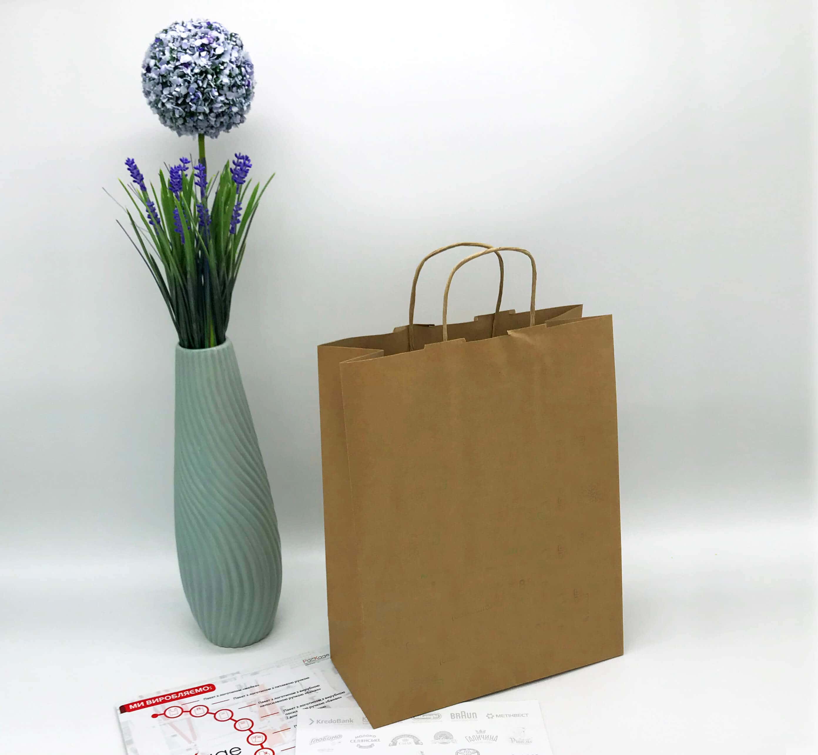 Бурый крафт пакет без печати 250*320, 90 г/см -Chernigov Package - Фото Бурый мал_бп