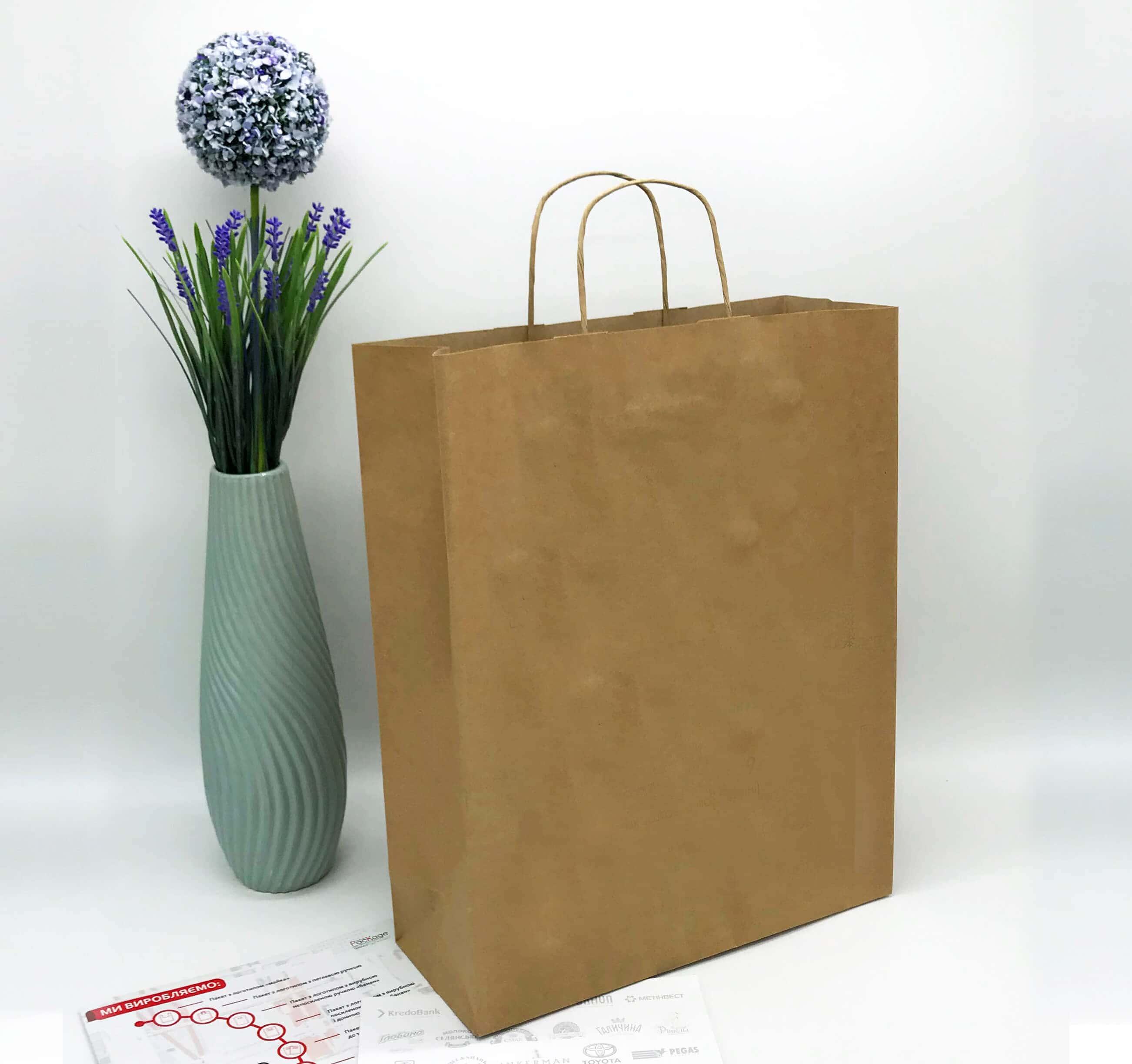 Бурый крафт пакет без печати 320*400, 90 г/см -Chernigov Package - Фото Бурый сред_бп