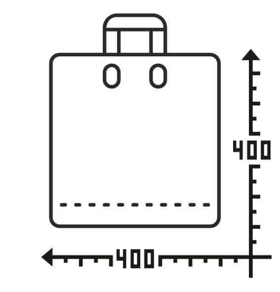 Пакеты с логотипом с петлевой ручкой 400*400, 60 мкм, LDPE -Chernigov Package - Фото Петля_40х40