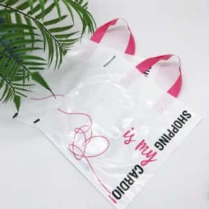 "Bags with loop handle ""Shopping is my cardio"" 30x30cm -Chernigov Package - Фото 1591016067737667"