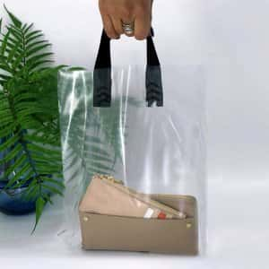 Bags with loop handle 300*350 mm, without printing, LDPE A6, TRANSPARENT -Chernigov Package - Фото IMG_6739+актив