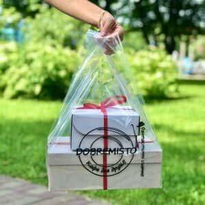 Новинка! Стильные прозрачные пакеты с Вашим лого от 500 шт. Chernigov Package - Photo IMG_7218