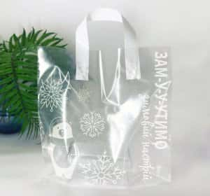 "Пакеты с петлевой ручкой ""Замутимо зимовий настрій"" 30х30см -Chernigov Package - Фото +IMG_2795"