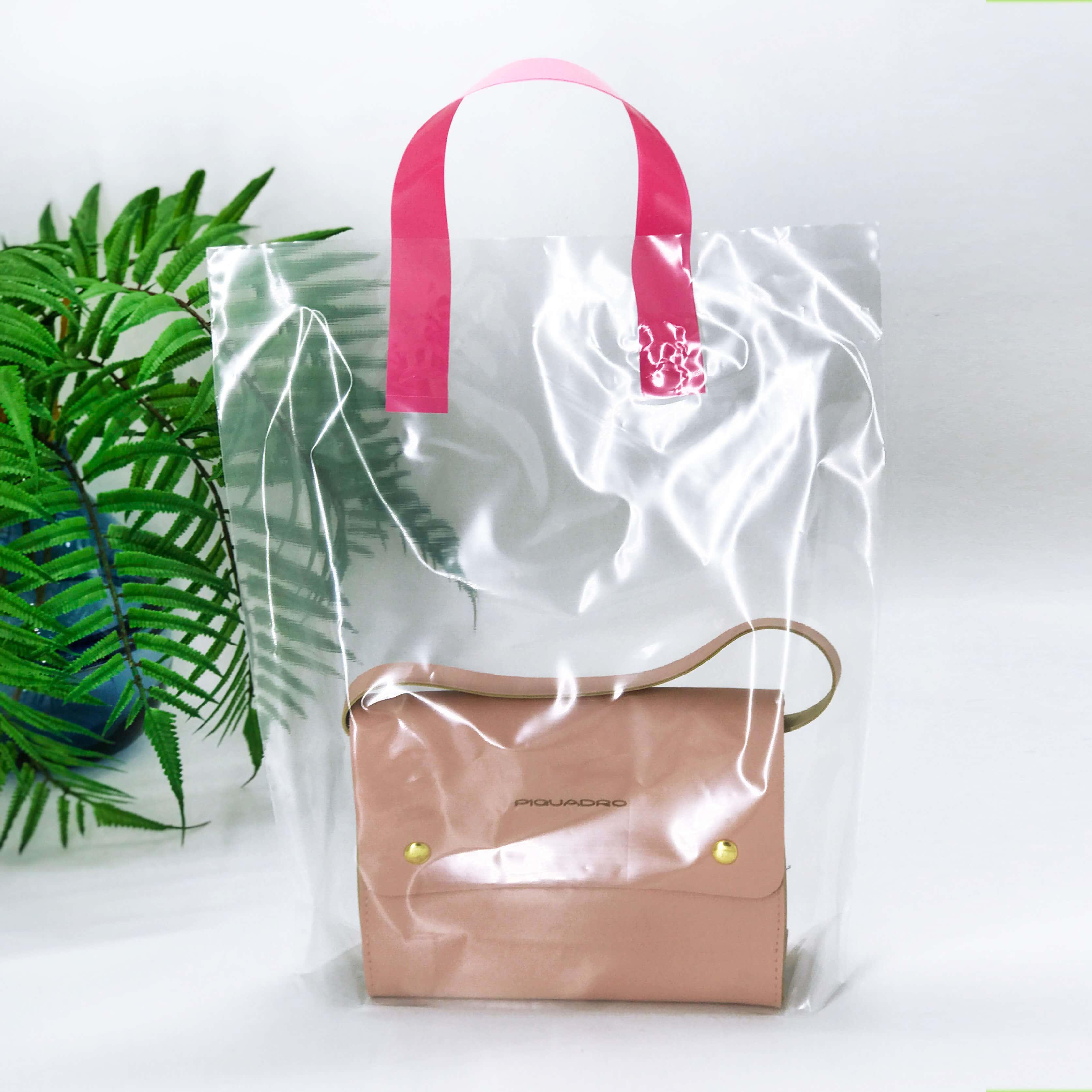 Пакет активированный с розовой петлевой ручкой 300*350 мм, А6 полиэтилен, ПРОЗРАЧНЫЙ -Chernigov Package - Фото +1607434216631844