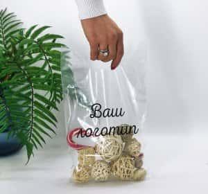 "Пакеты с логотипом типа ""банан"" 200*300, 50 мкм, LDPE -Chernigov Package - Фото Банан прозрачный 20х30_кв"